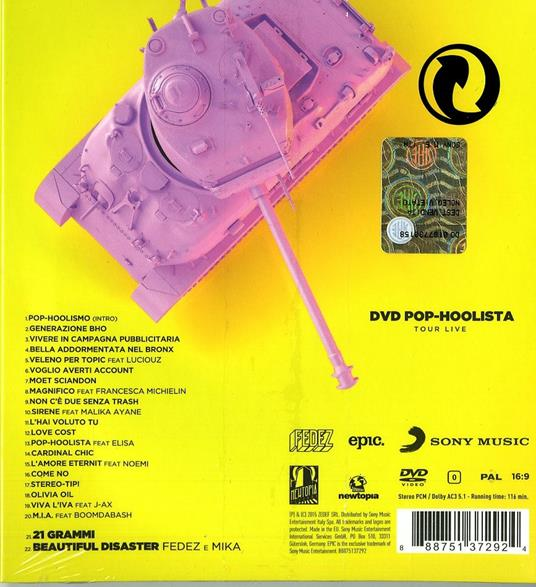 Pop-Hoolista (Cosodipinto Edition) - CD Audio + DVD di Fedez - 2