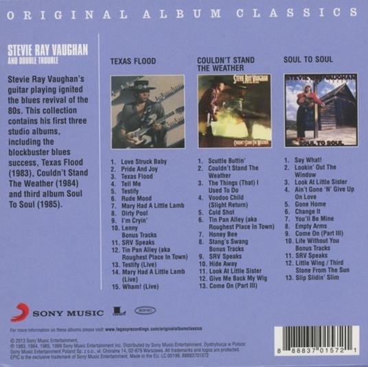 Original Album Classics - CD Audio di Stevie Ray Vaughan - 2