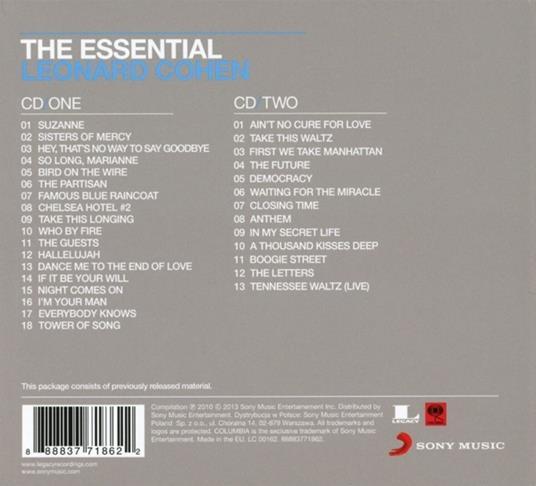 The Essential Leonard Cohen - CD Audio di Leonard Cohen - 2