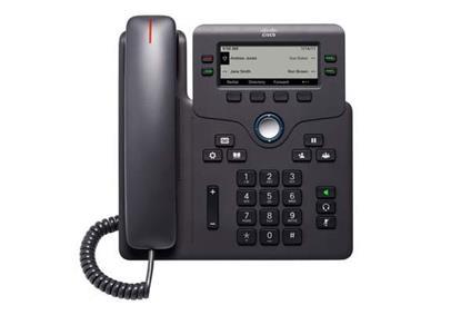 Cisco 6841 telefono IP Nero Cornetta cablata 4 linee