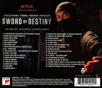 Crouching Tiger, Hidden Dragon. Sword of Destiny (Colonna sonora) - CD Audio di Carlo Siliotto