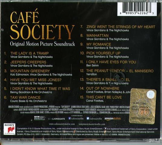 Café Society (Colonna sonora) - CD Audio - 2