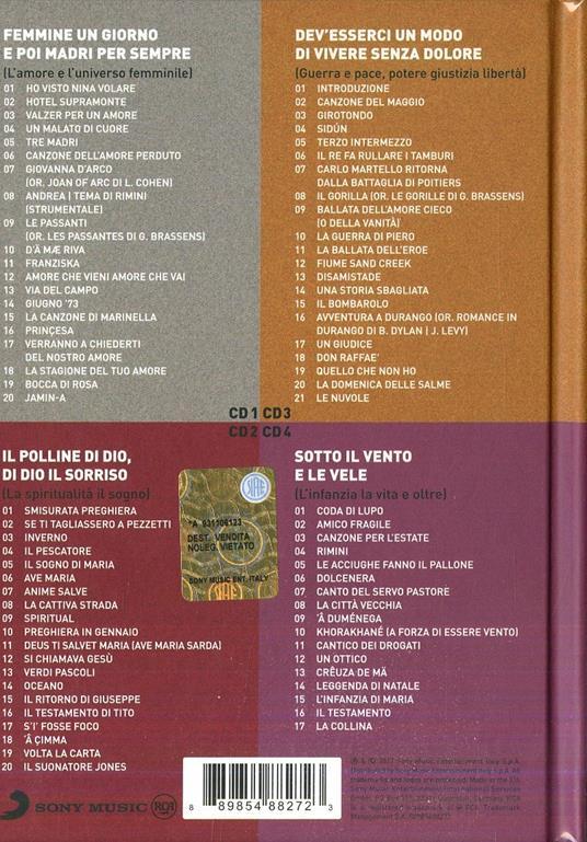 Tu che m'ascolti insegnami (Bookset) - CD Audio di Fabrizio De André - 2