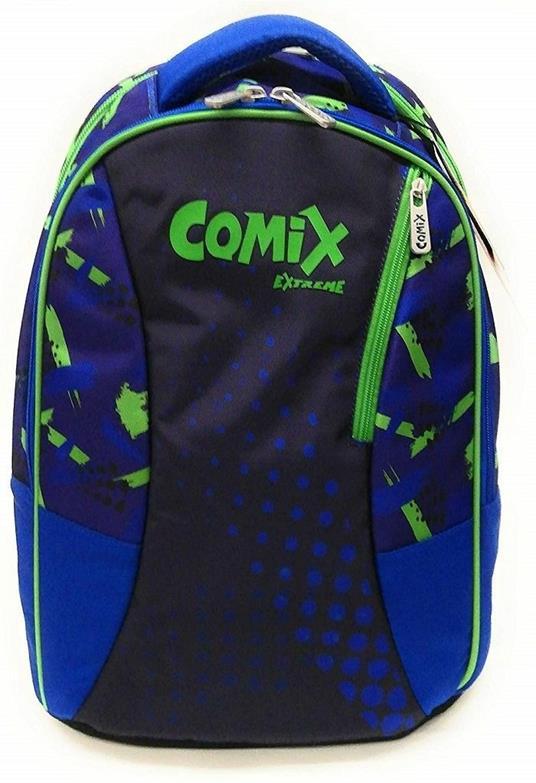 Zaino organizzato Comix Extreme Blu-Verde
