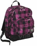 Zaino Doppio Scomparto YUB Urban Check Lollipop Pink - 31x42x18 cm