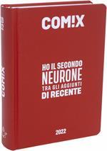 Diario Comix 2021-2022, 16 Mesi Standard Deep red - Rosso