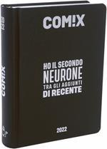 Diario Comix 2021-2022, 16 Mesi Mignon Black & Silver - Nero e Grigio
