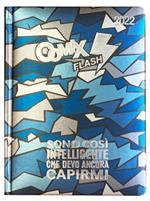 Superdiario Comix Flash 2021-2022, 13 mesi, datato, Blu - 13,5 x 18,5 cm