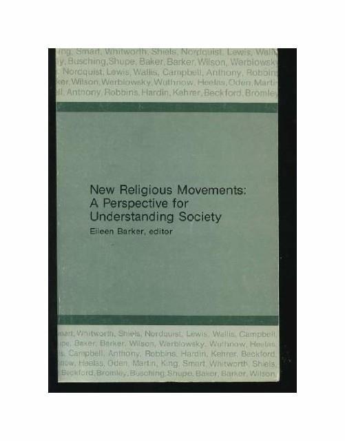 New Religious Movements - Eileen Barker - copertina