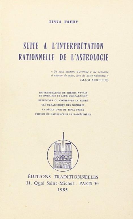 Suite À l'Interprétation Rationnelle De l'Astrologie - copertina