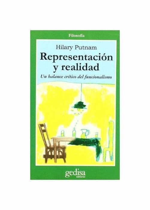Representación Y Realidad : un Balance Crítico De Funcionalismo - copertina
