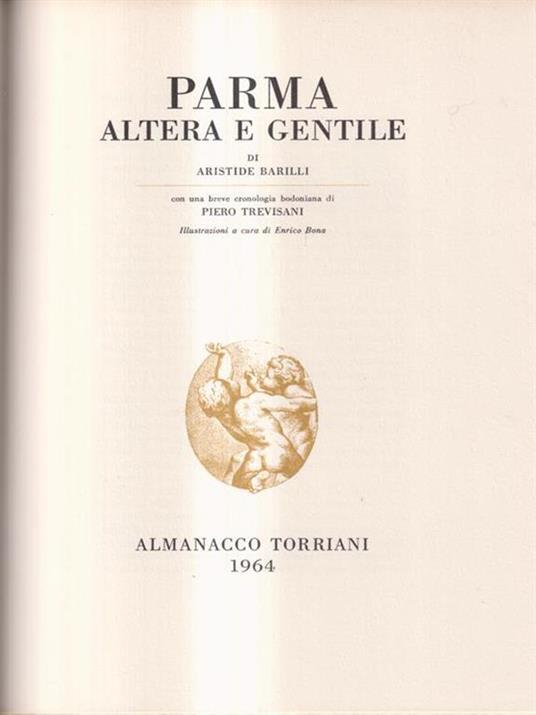Parma altera e gentile. Almanacco Torriani. 1964 - Aristide Barilli - copertina