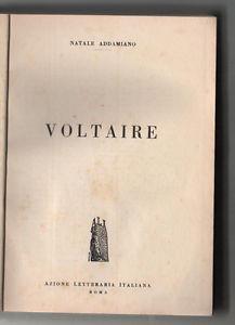 Voltaire - Natale Addamiano - copertina