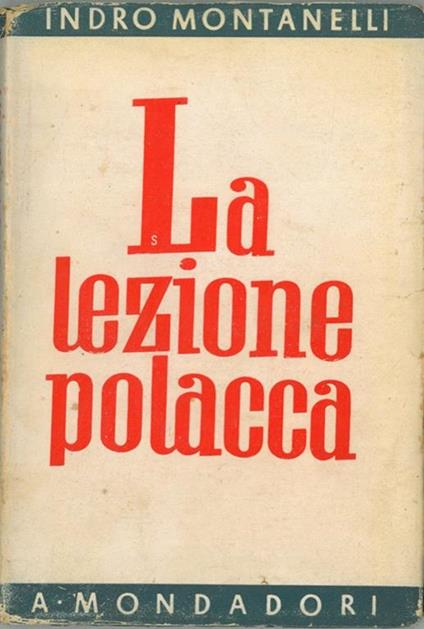 La lezione polacca - Indro Montanelli - copertina