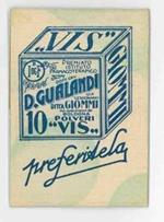 Bustina pubblicitaria in cartoncino (tipo fiammiferi Minerva) con una dozzina di stuzzicadenti, staccabili