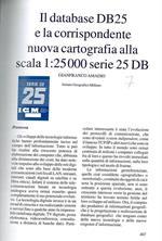 Il database DB25 e la corrispondente nuova cartografia alla scala 1:25000 serie 25 DB