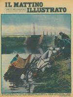Durante la piena dei fiumi in Francia : precipitati nell'acqua, col biroccino, a stento gli uomini riuscivano a salvarsi ma il cavallo, rialzatosi a sua volta, riusciva a guadagnare intrepidamente la riva, risalendo senza aiuto la ripida scarpata
