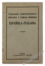 Verdadera Correspondencia Mercantil Y Familiar Modernas Espanola-Italiana