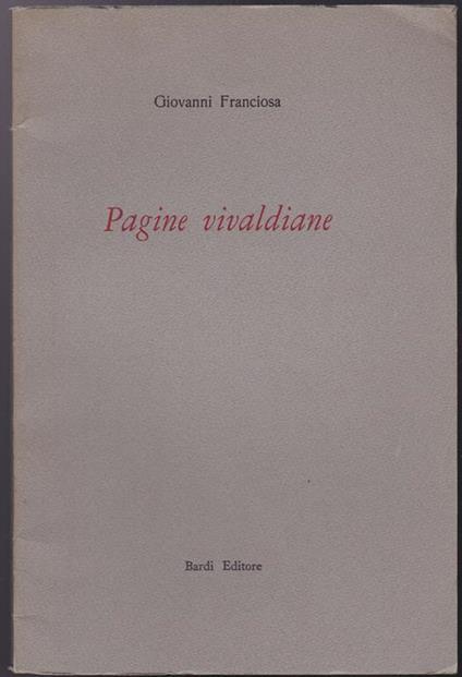 Pagine vivaldiane - Franciosa Giovanni - copertina