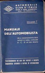Manuale Dell'automobilista Volume 1