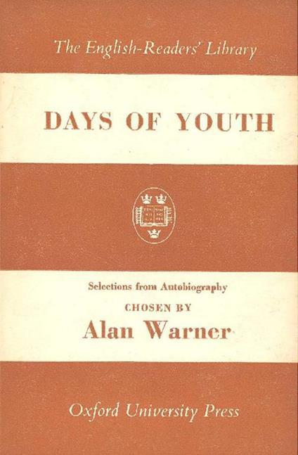Days of youth - Alan Warner - copertina