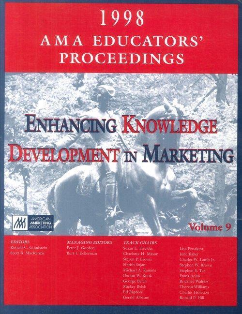 Ama Educator's Proceedings 1998. Enhancing Knowledge Development in Marketing. Volume 9 - copertina