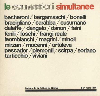 Les connexions simultanees = De aanstondige Bekendmaking = Die gleichzeitigen Verknupfungen = Simultaneous connections = Le connessioni simultanee - copertina