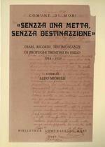 Senzza una metta, senzza destinazzione: diari, ricordi, testimonianze di profughi trentini in esilio: 1914-1919