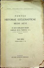 Fontes historiae ecclesiasticae Medii Aevi: 1. Fontes saecc. V-IX. Pontificia università gregoriana\r<br>Silva-Tarouca