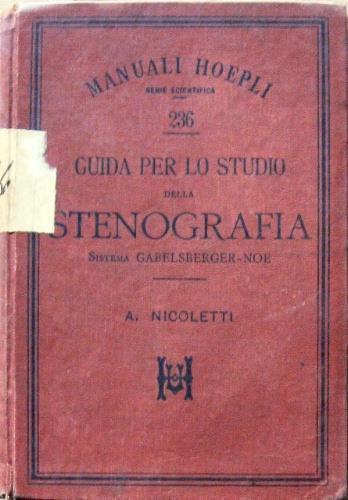 Guida per lo studio della stenografia - Aroldo Nicoletti - copertina