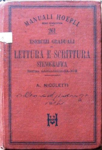 Esercizi graduali di lettura e scrittura stenografica - Aroldo Nicoletti - copertina