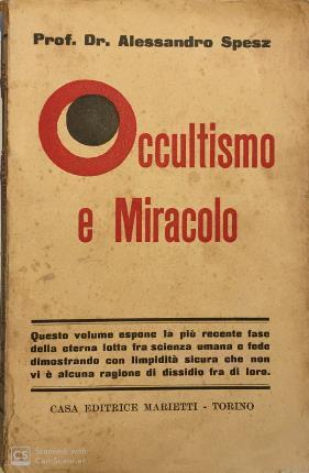 Occultismo e miracolo - Alessandro Spesz - copertina