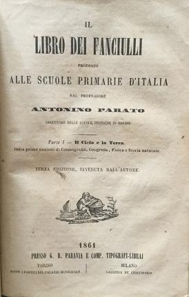 Il libro dei fanciulli proposto alle scuole primarie d'Italia - Antonino Parato - copertina