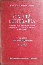 Civiltà Letteraria Vol. 1 Dalle Origini Al Quattrocento
