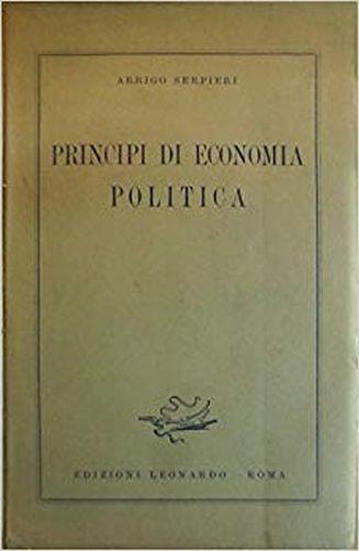 Principi Di Economia Politica - Serpieri - copertina