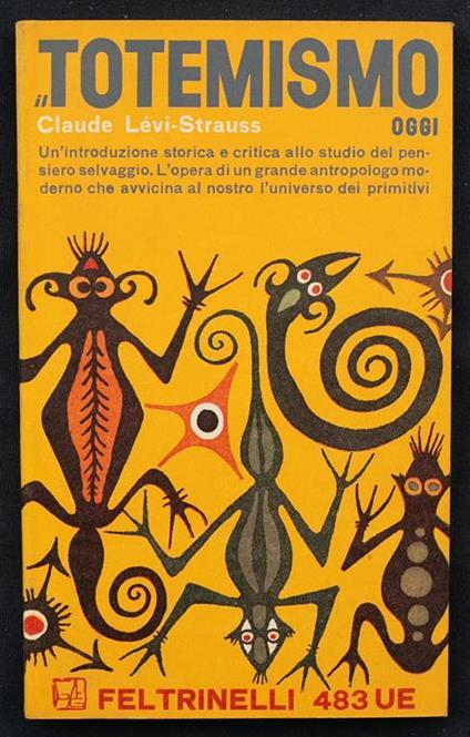 Il totemismo oggi - Claude Lévi-Strauss - copertina