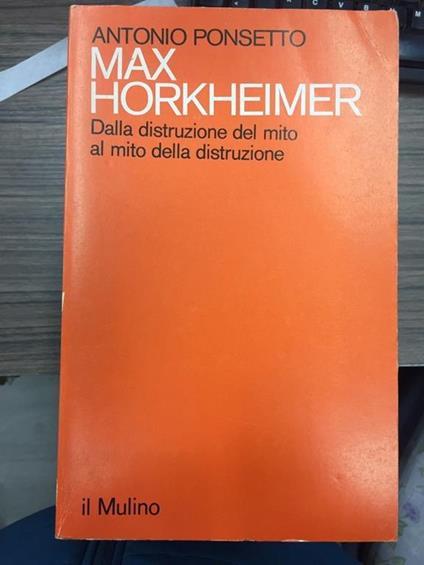 Max Horkjeimer - Antonio Ponsetto - copertina