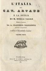 L' Italia e la Sicilia. Tradotte ed accresciute da A.F. Falconetti. Con note ed illustrazioni. Volume unico