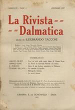 La Rivista Dalmatica. Diretta da Ildebrando Tacconi. Anno IX. Fasc. I, gennaio 1927 II, giugno 1927 III, ottobre 1927 IV, marzo 1928. Annata completa