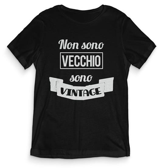 T-Shirt Uomo Nera Tee129 Tg S Non Sono Vecchio Sono Vintage