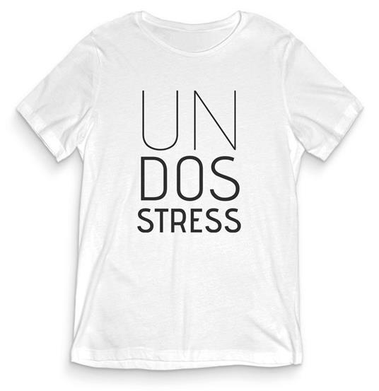 T-Shirt Uomo Bianca Tee163 Tg Xxl Un Dos Stress