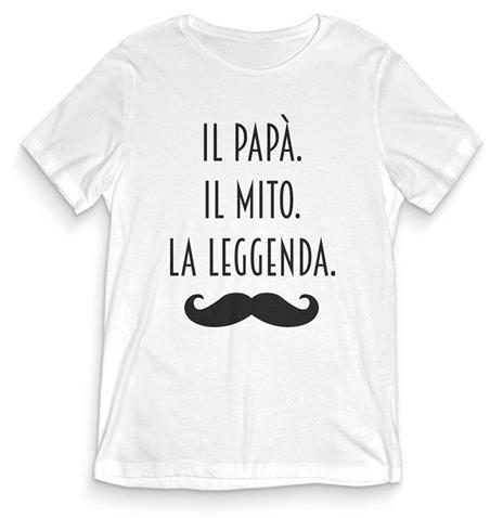 T-Shirt Uomo Bianca Tee184 Tg Xl Il Papà Il Mito La Leggenda