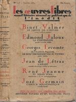 Les oeuvres libres N. 103 Anno 1930. Recueil littéraire mensuel ne publiant que de l'inédit