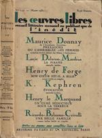 Les oeuvres libres N. 117 Anno 1931. Recueil littéraire mensuel ne publiant que de l'inédit