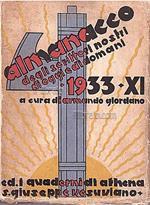 Almanacco degli scrittori nostri di oggi e di domani 1933 - XI