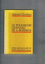 Le polemiche giovanili di A. Rosmini