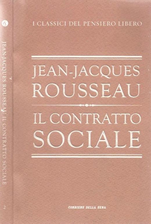 Il contratto sociale - Carlo Jean - copertina