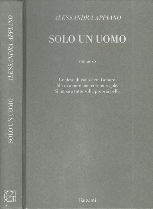 Solo un uomo - Alessandra Appiano - copertina