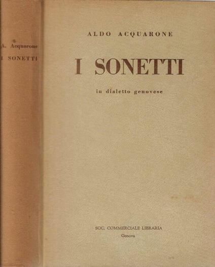 I sonetti - Aldo Acquarone - copertina