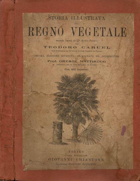 Storia illustrata del Regno Vegetale - Teodoro Caruel - copertina
